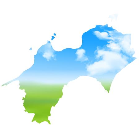 Shikoku region Map landscape icon