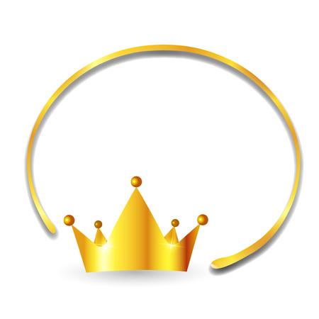 Crown Gold Frame Icon Illustration