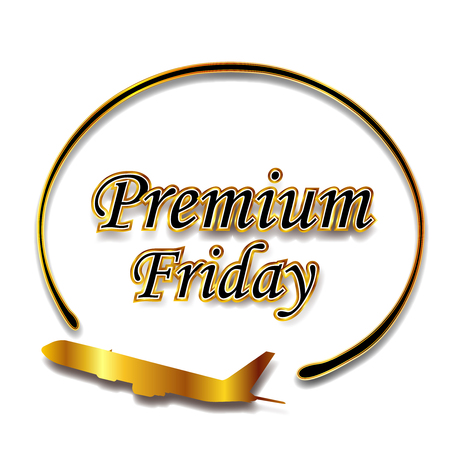 Premium Friday Gold Frame Icon