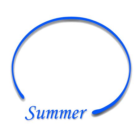 Summer Blue Frame Icon