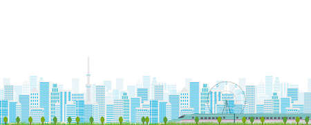 shinkansen: Tokyo building scenery background
