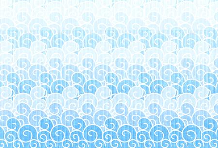 Ocean wave Japanese paper background. Ilustração