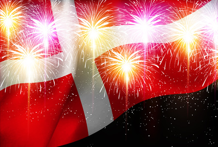 Fireworks national flag background