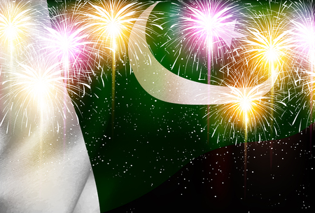 Pakistan national flag Fireworks