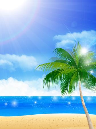 Sea palm summer background
