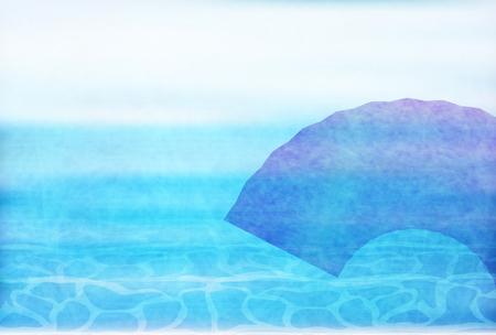 Ocean wave Japanese paper background