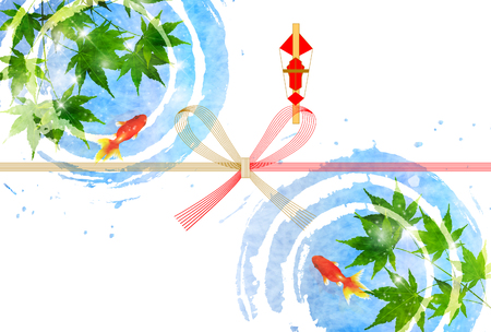Goldfish Maple Summer Background Vectores