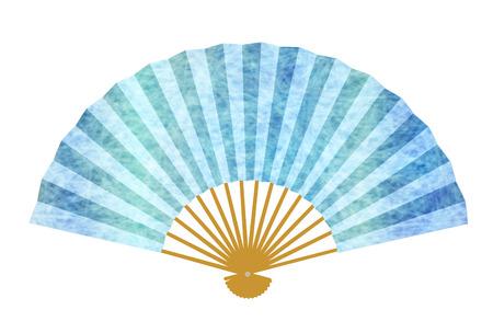Fan summer Japanese paper icon Illustration