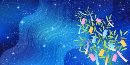 Star Festival Dekorative Nachthimmel Hintergrund Vektorgrafik