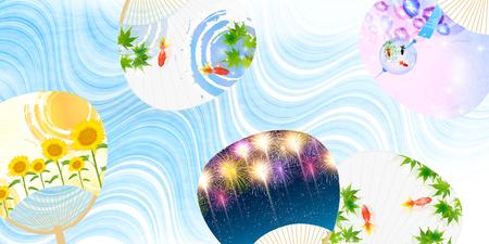 Sommer Ahorn Fan Hintergrund Standard-Bild - 78912105