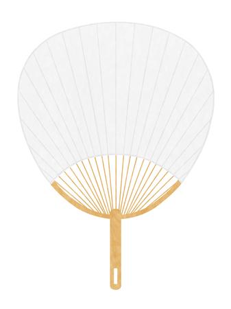Fan summer Japanese paper icon  イラスト・ベクター素材