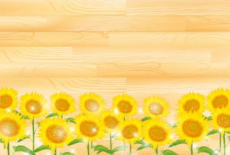 ひまわりの夏の花のデザイン