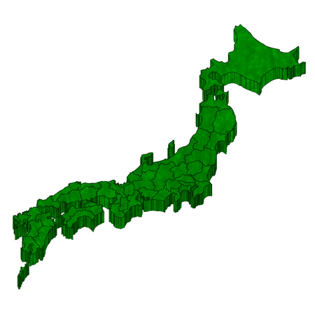 Japan Map 3D Icon