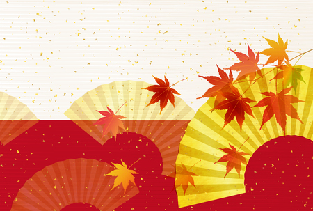 Autumn leaves fall Japanese paper background 版權商用圖片 - 79450968