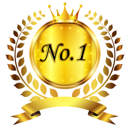Crown medal gold icon