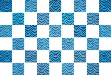 Summer Japanese paper ocean background