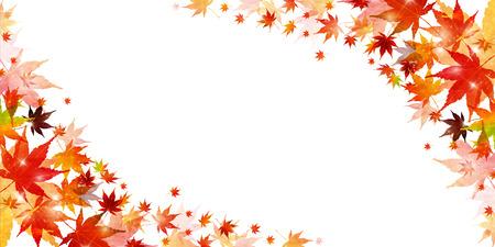 Herbst Blätter Ahornblatt Hintergrund Standard-Bild - 80306348