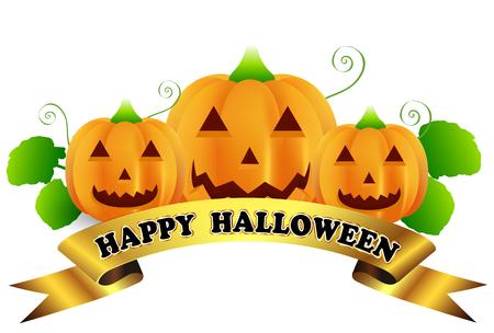 Halloween Kürbis Band Symbol