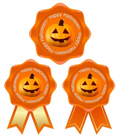 Halloween pumpkin medal icon