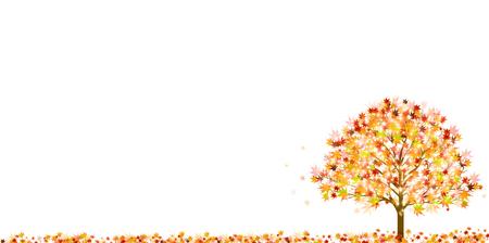 Maple autumn landscape background
