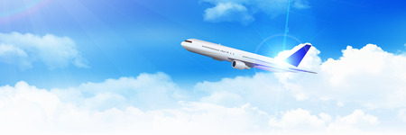 Airplane sky scenery background Illustration