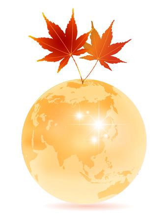 Maple autumn Earth background