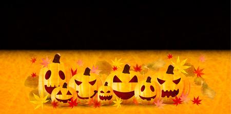 Halloween pumpkin Japanese paper background