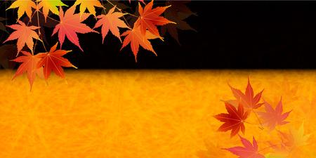 Autumn leaves maple leaf background