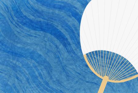 water wave: Ocean summer Japanese paper background