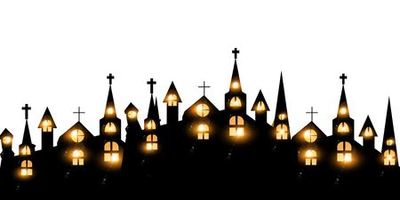 Halloween Castle Fall Icon Stock Vector - 81151928
