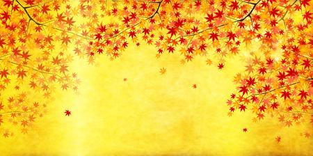 Maple herfst landschap achtergrond Stock Illustratie