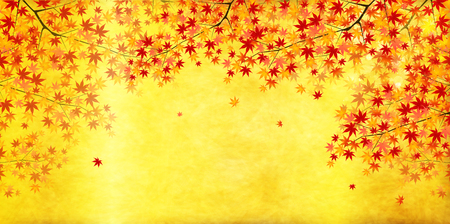 Maple autumn landscape background