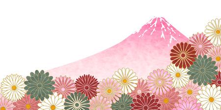A Fuji Chrysanthemum pattern background. Illustration