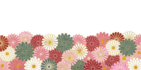 Chrysanthemum pattern Japanese paper background.