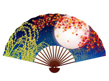 Maple autumn rice icon Illustration