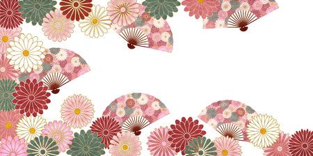 Chrysanthemum autumn Japanese paper background