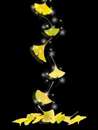 Ginkgo verlässt Autumn Background-Illustration. Standard-Bild - 82019329