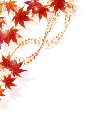 fall leaves: Maple autumn leaf background