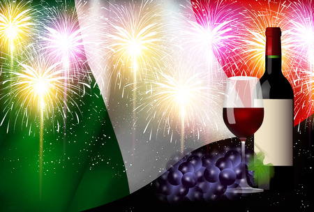 Italy Wine Flag Background