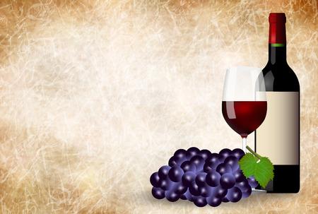 ワインぶどう和紙の背景