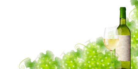 Wine grape glass background