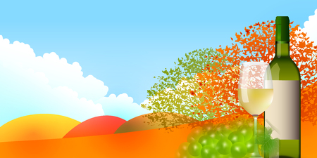 fall leaves: Wine grapes autumn leaves background