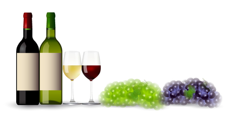 Wine grape autumn background