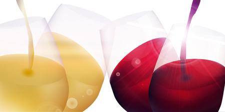 Wine grape autumn background Illustration