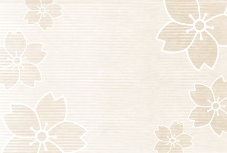 Cherry blossoms New Year's cards Japanese paper background