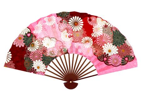 Chrysanthemum pattern New Year card icon