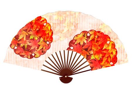 Maple autumn fan icon Illustration