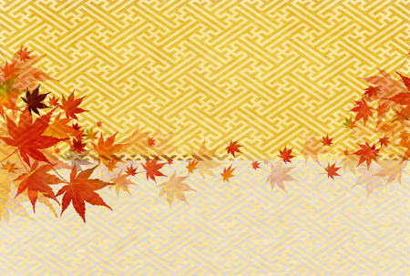 japanese maple: Autumn leaves fall Japanese paper background