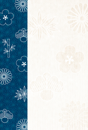 New Year's cards Japanese paper pattern background vector illustration.