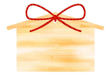 Ema message 새해 카드 아이콘 벡터 일러스트 레이션.